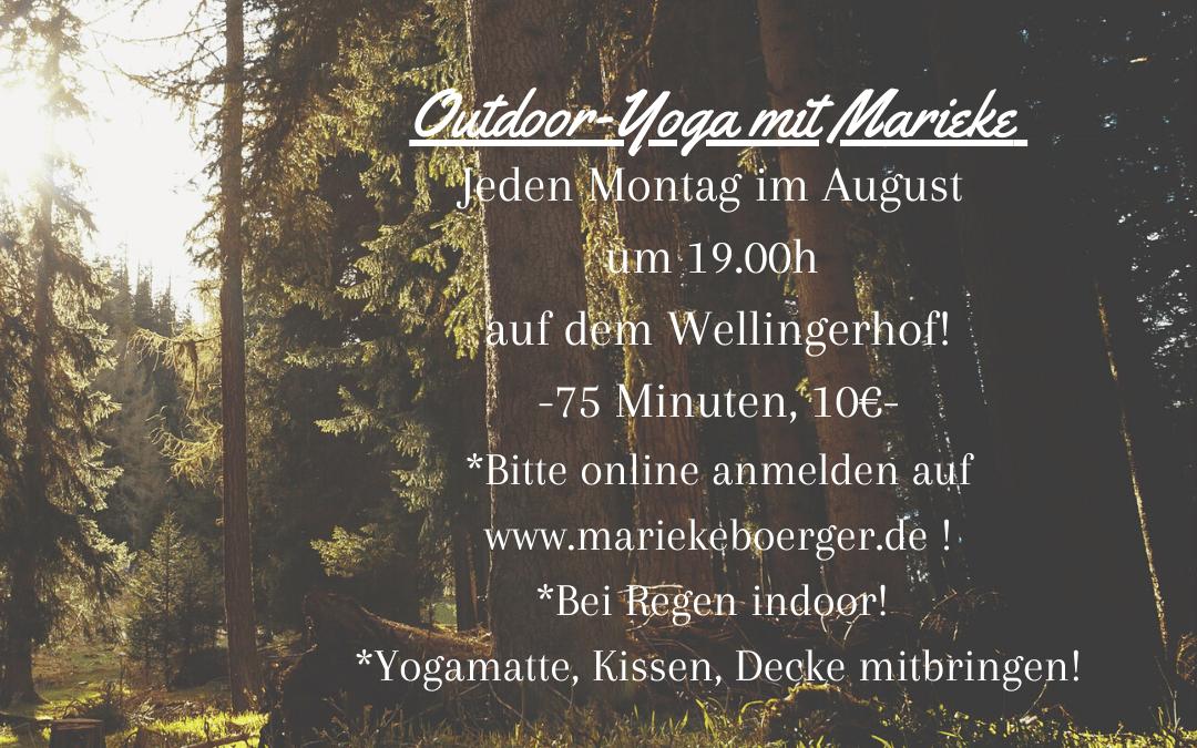 Outdoor Yoga beim Wellingerhof im August ´21!