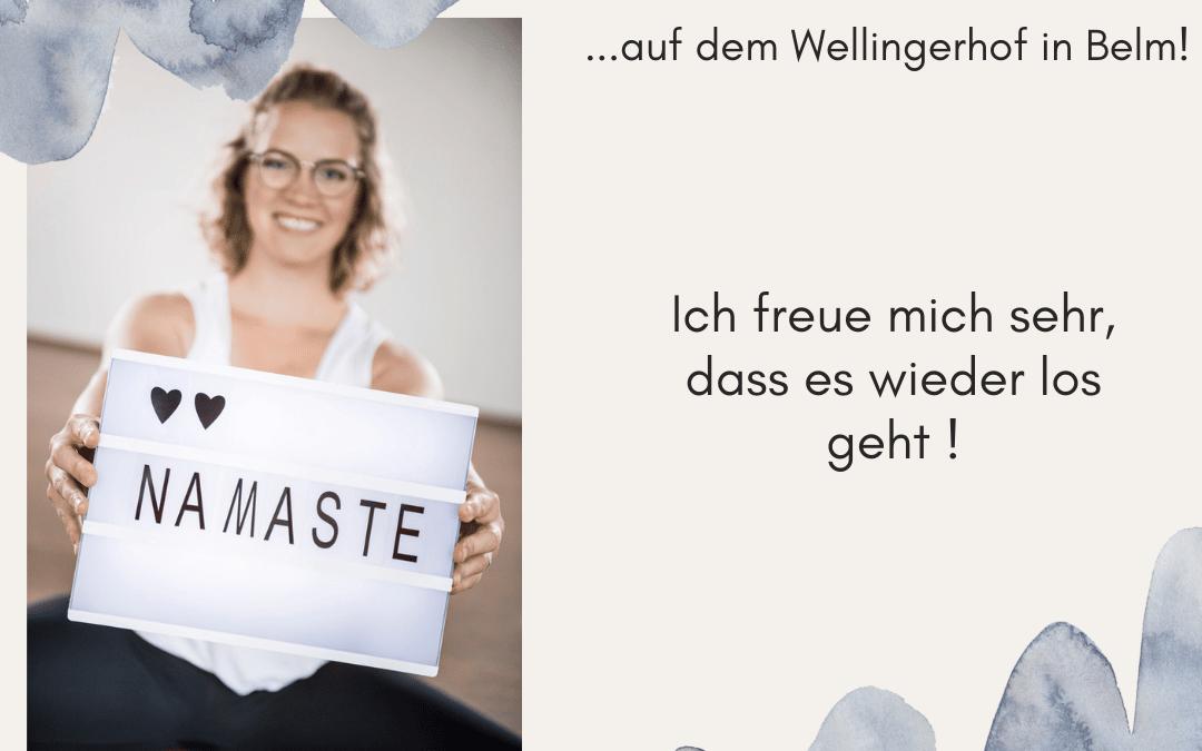 Neue Yogakurse starten ab September auf dem Wellingerhof!